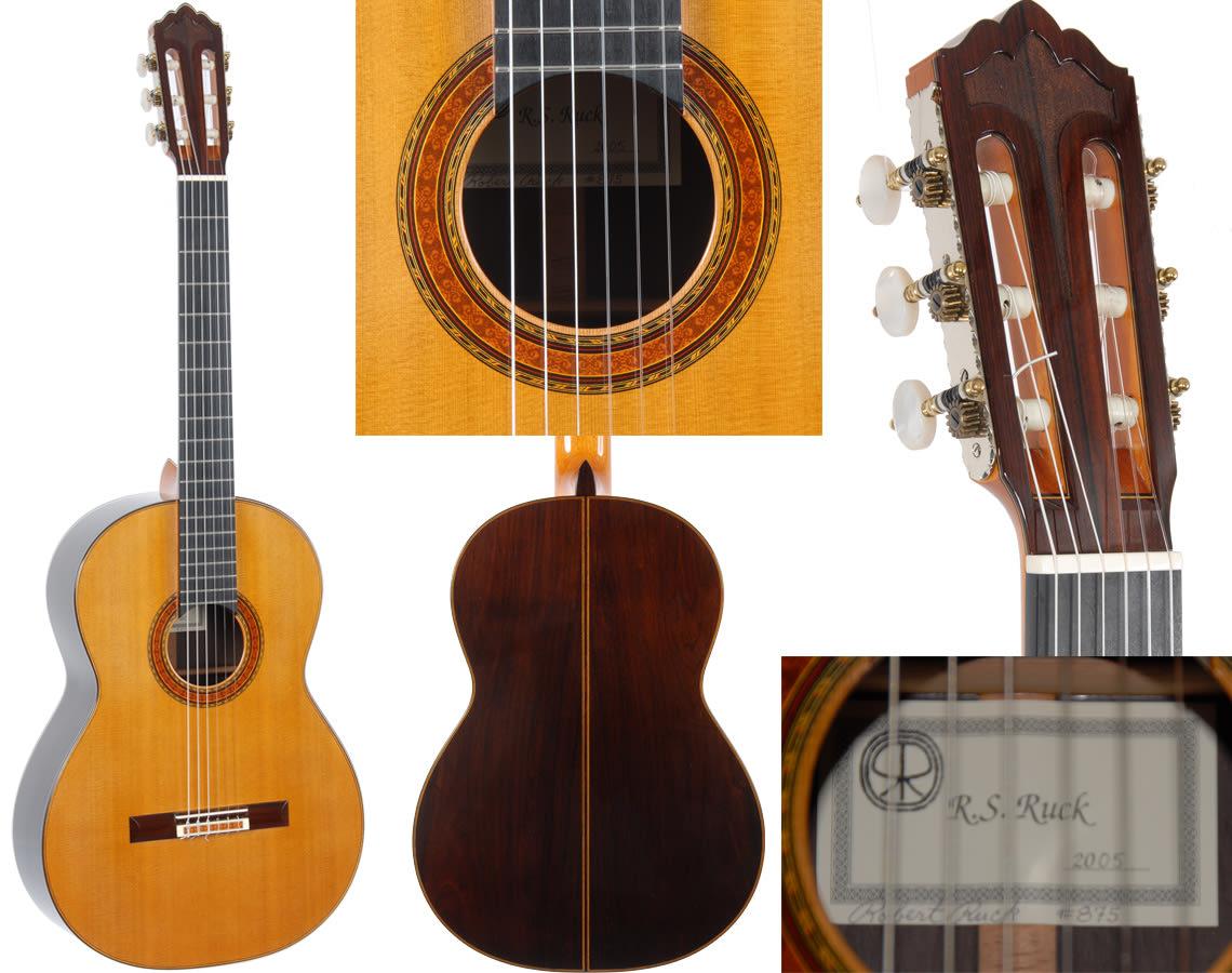 2005 Robert Ruck 'composite (double) top' Manuel Barrueco's personal guitar